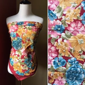 Vintage Capezio made in Italy large floral scarf